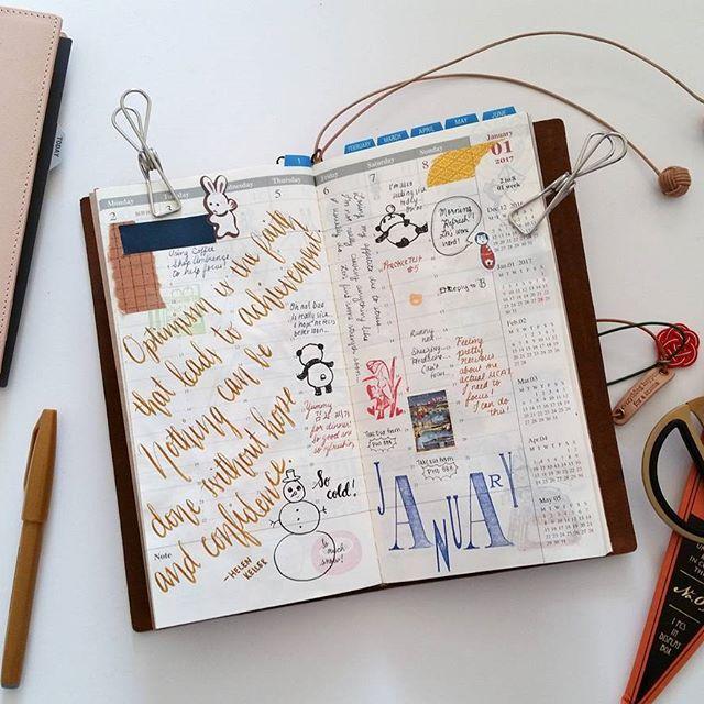 Traveler's Notebook //+. Week 01.2017 First Week Of The