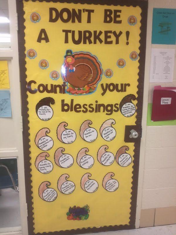 Thanksgiving Classroom Decoration : Image of thanksgiving door decorations alecia marsh