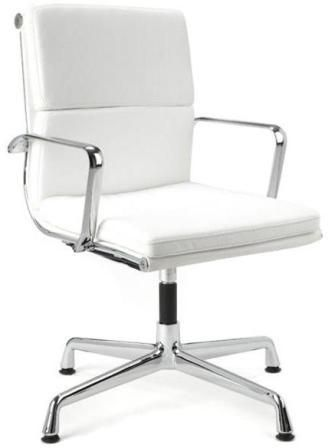 Director Office Chair With No Wheels White Office Chair