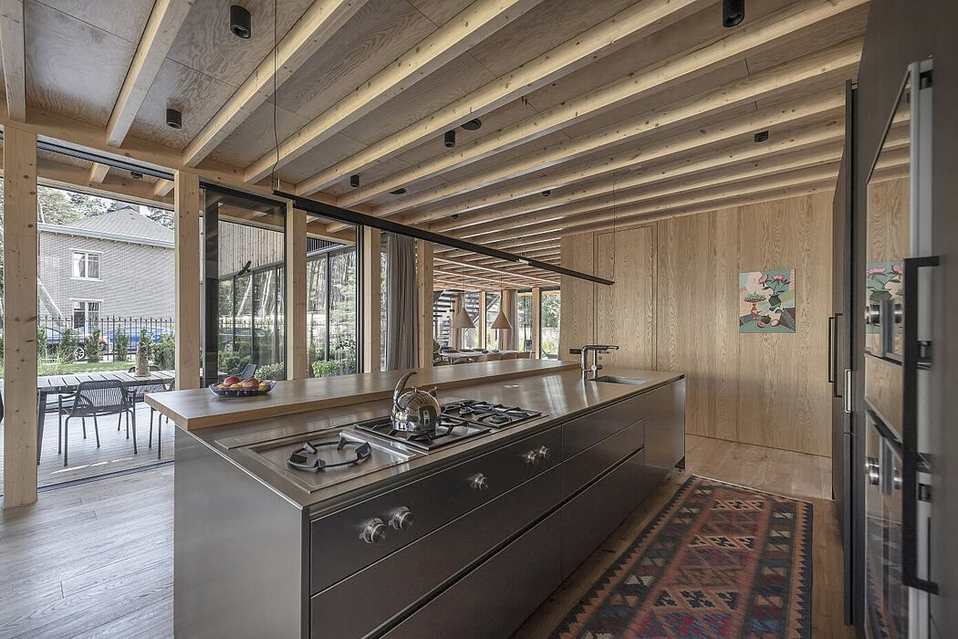 Family Villa In Giruliai By Do Architects Homeadore In 2020 Family Villa Open Plan Kitchen Living Room Villa