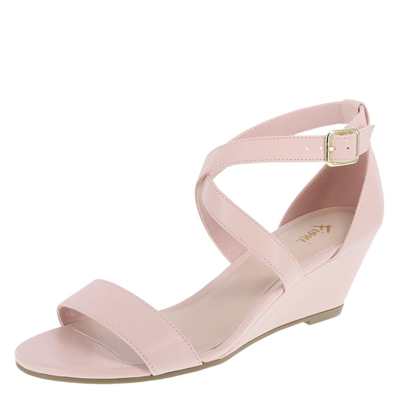 f63689f10de Fioni Women s Princess Mid-Wedge Sandal