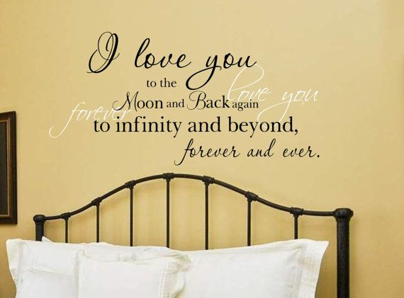 I love you to the moon and back Vinyl Wall Decal | Stairways ...
