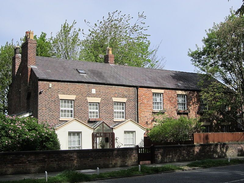 :Ken Dodd's house, Knotty Ash, Liverpool, England. Knotty Ash was named after a large Ash tree that once stood there, also home to the Jam Butty Factory and the Diddy Men....its a British thing