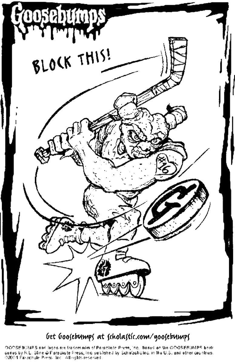Goosbumps Coloring Pages Coloring pages, Goosebumps