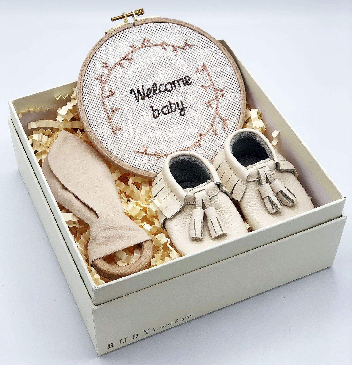 Gender neutral baby gift box unisex newborn gift organic