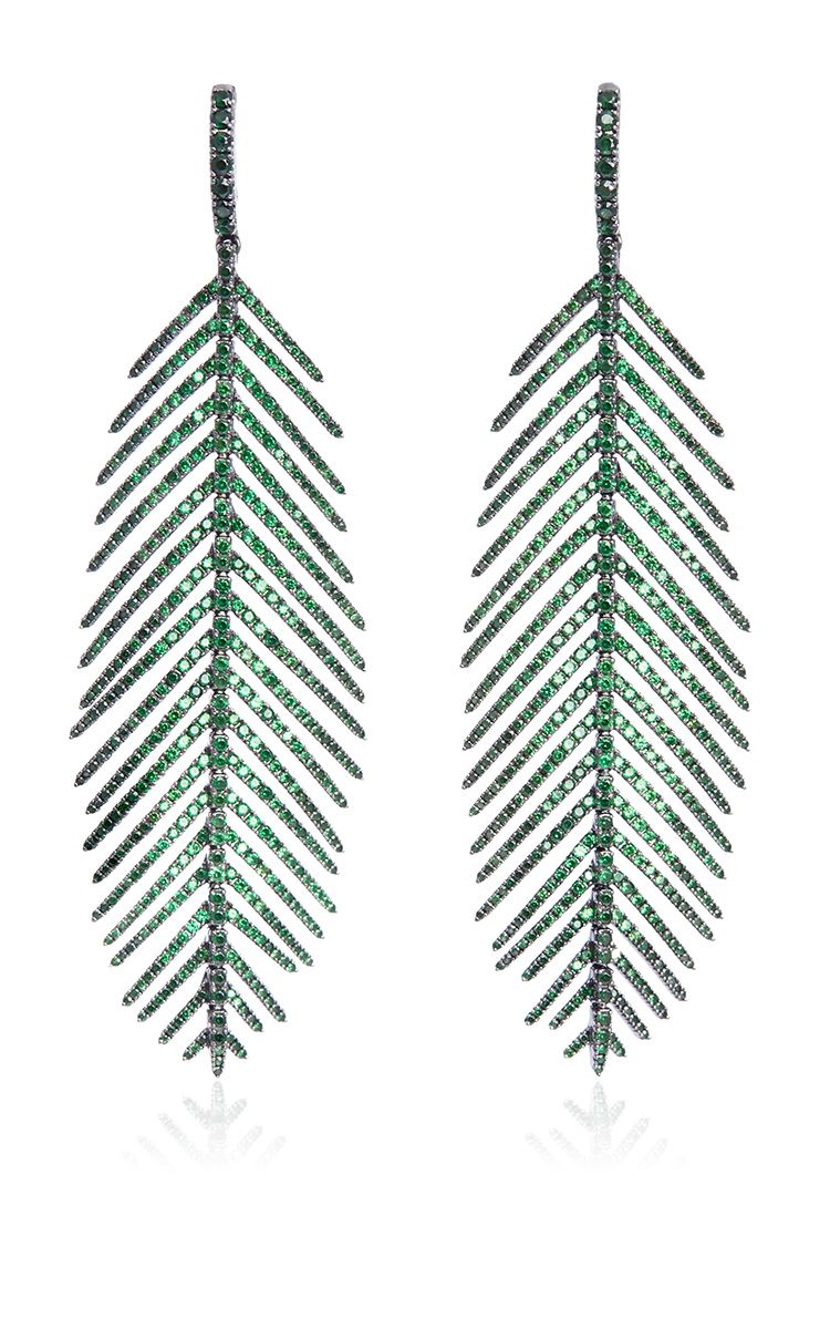 Feathers That Move Earrings by SIDNEY GARBER for Preorder on Moda Operandi