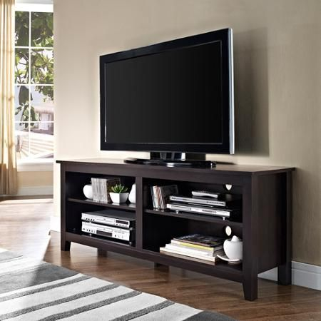 Walmart: Espresso Wood TV Stand For TVs Up To