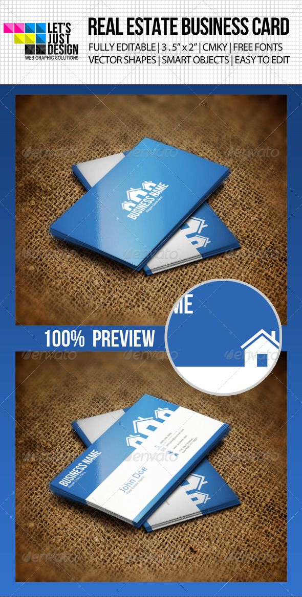 Clean Real Estate Business Card Template Psd Download Here Http
