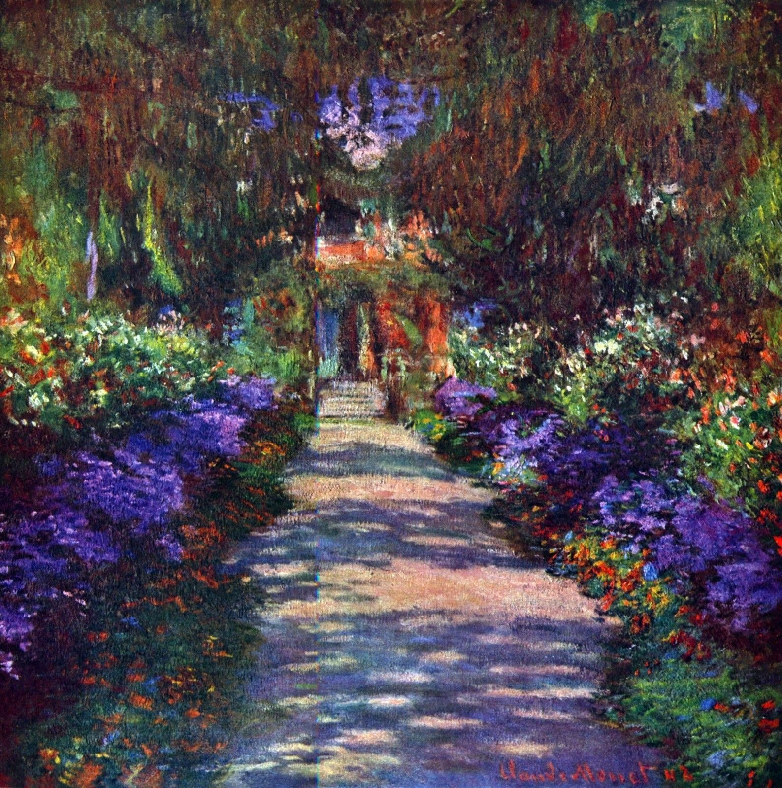 Garden at giverny by claude giclee fine art print