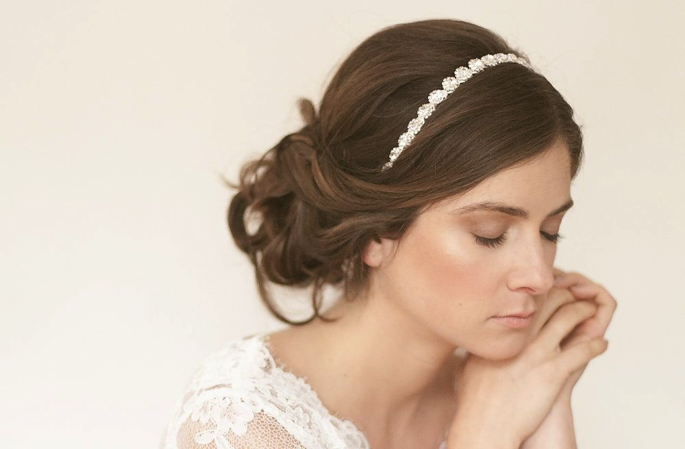 Wedding Hairstyles For Long Hair Down With Headband Wedding Hair