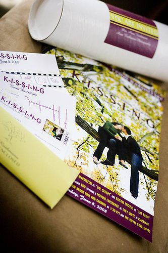 Movie Poster & Ticket Wedding Invitation by Anne Ruthmann, via Flickr