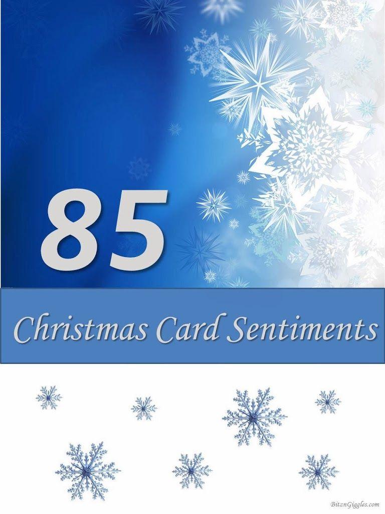 85 Christmas Card Sentiments Misc Pinterest Card Sentiments