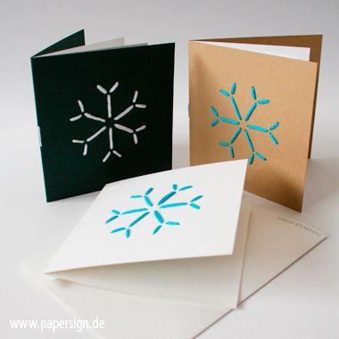 weihnachtskarte stitch snowflake stickmotiv. Black Bedroom Furniture Sets. Home Design Ideas