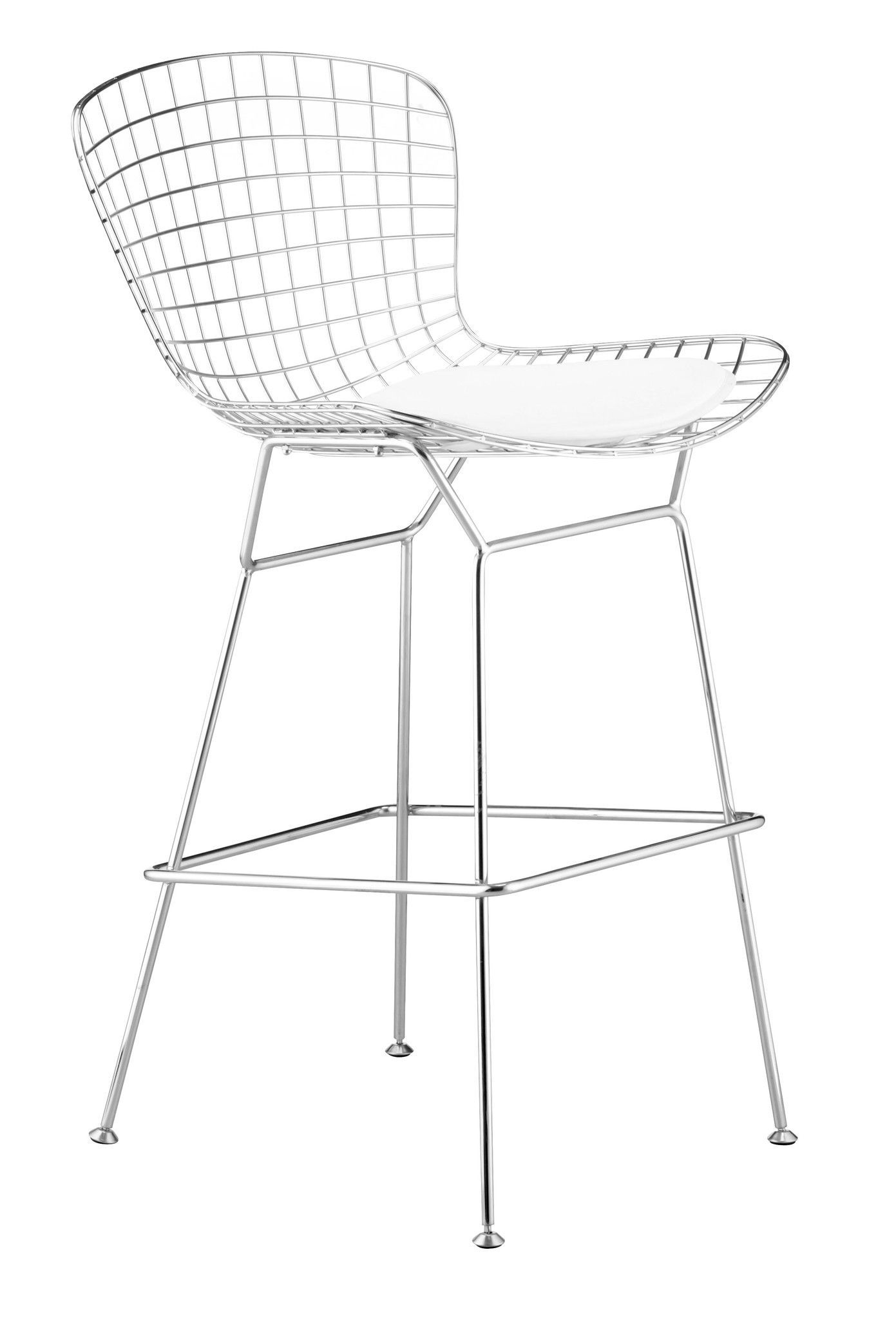 Chrome Wire Bar Stool Set Of 2