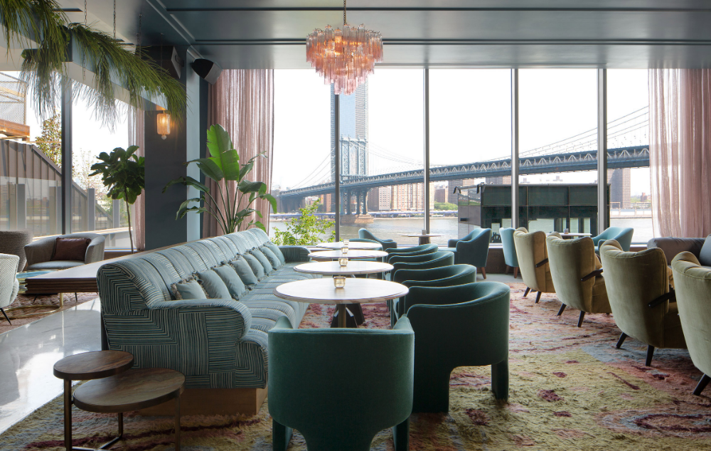Soho House Adds Colourful Rooftop To Dumbo House In Brooklyn With Images Soho House House Private Dining Room