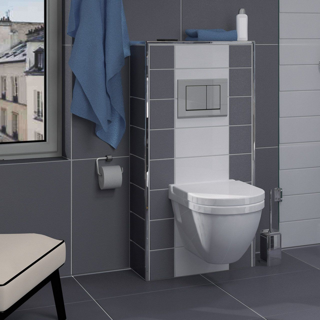 Habillage Wc Suspendu Grohe Leroy Merlin Pack Wc Suspendu Bâti Mur Geberit Symbiose Leroy Merlin