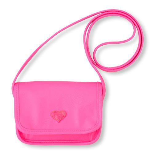 Hot Pink Baby Girl Handbag Kids Shoulder Crossbody Bag Children Purse Wallet