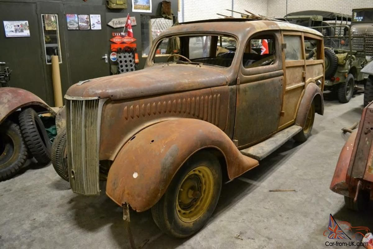 Ford Pilot Woodie project for sale in Britain recently.They still turn up.