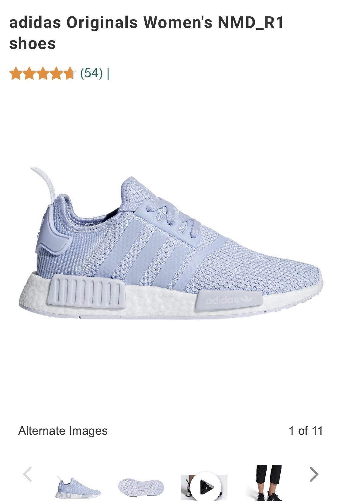 exquisite design cost charm high fashion Adidas originals womens NMD_R1 shoes periwinkle. Size 7.5 in ...