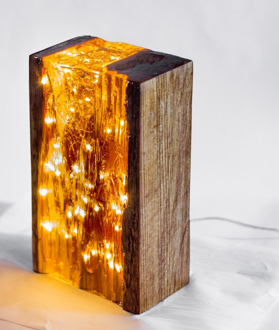 Wood And Resin Light Block In 2019 Epoxy Resin Wood Resin