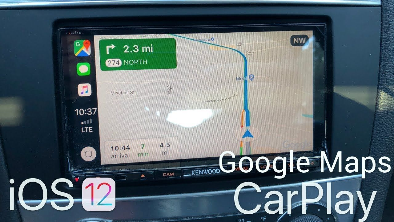 iOS 12 Google Maps on Apple CarPlay YouTube Apple