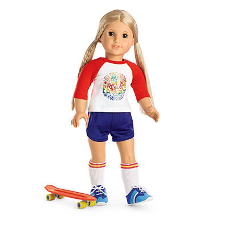 "3 Pc Skateboard Set for American Girl Doll Lea /& All American Girls 18/"" Dolls"