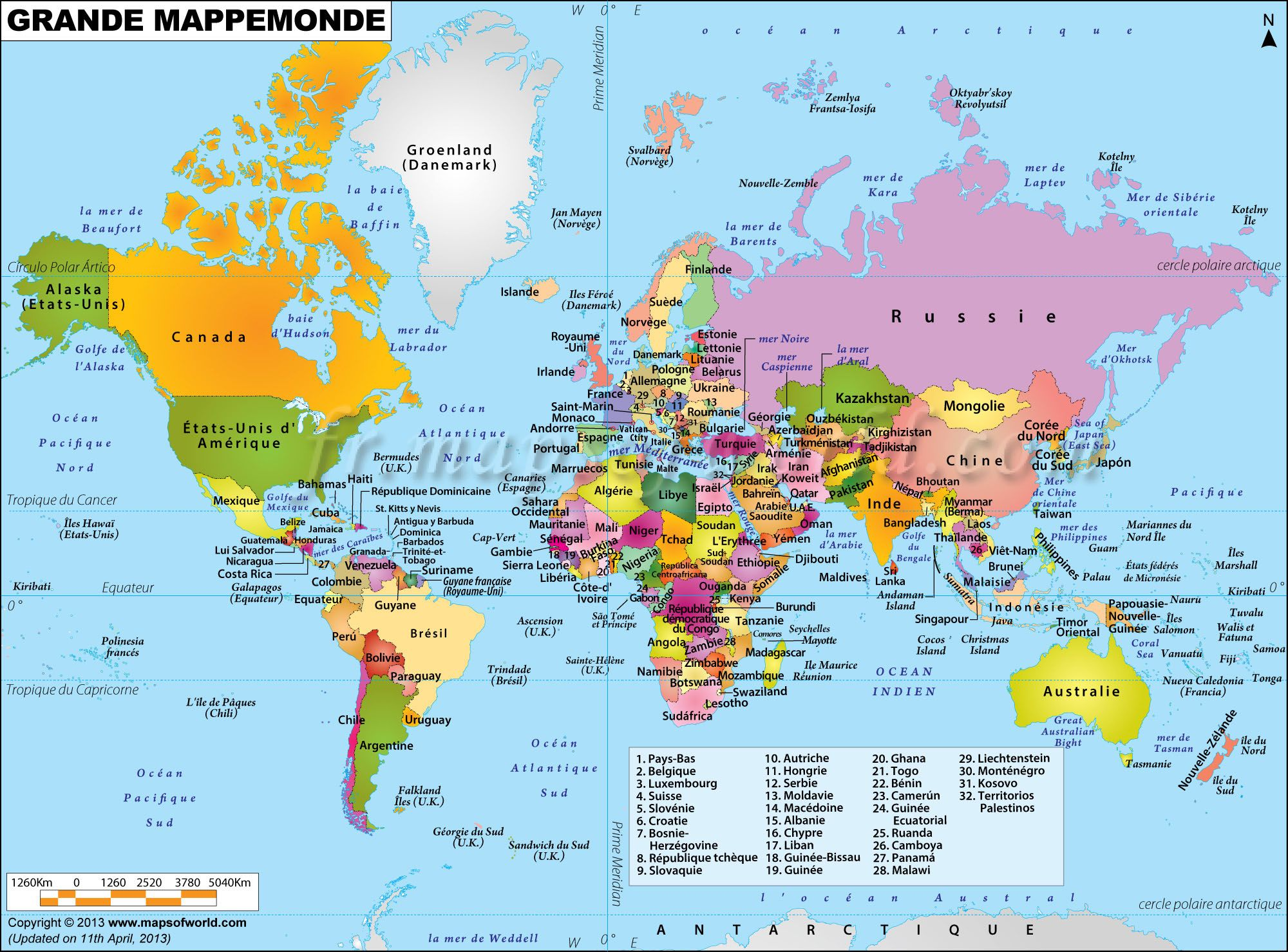 Mappemonde recherche google cartes du monde pinterest 21st world map clickable to the all countries map of the world from maps of world sciox Images