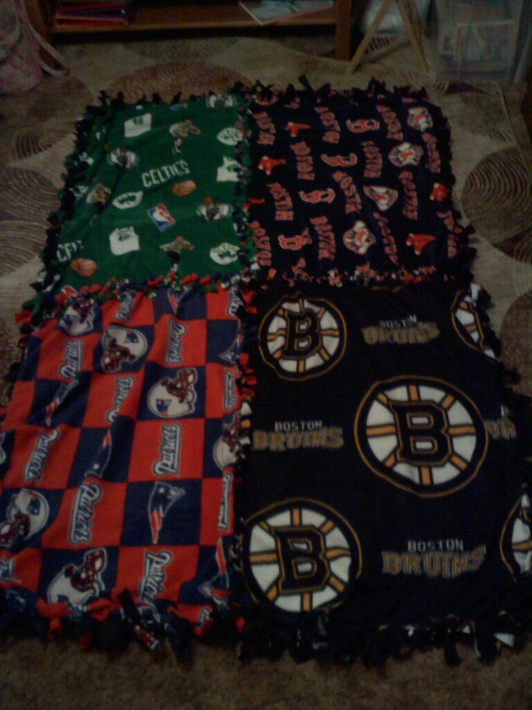 Boston Sports Teams No Sew Blanket No sew blankets