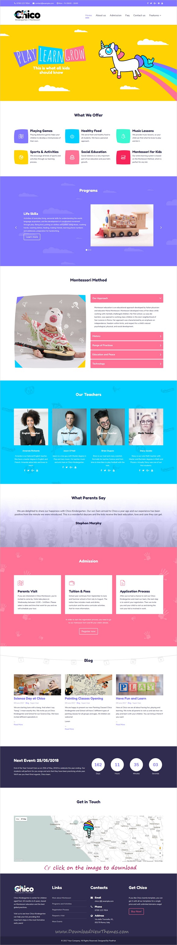 Chico  Premium Kindergarten And School Joomla Template  Template