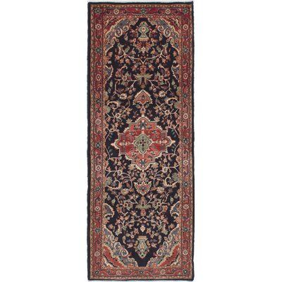 World Menagerie Ocilla Hand Knotted Dark Navy Wool Rug 3 8 X 10 0 Wool Area Rugs Colorful Rugs Wool Rug
