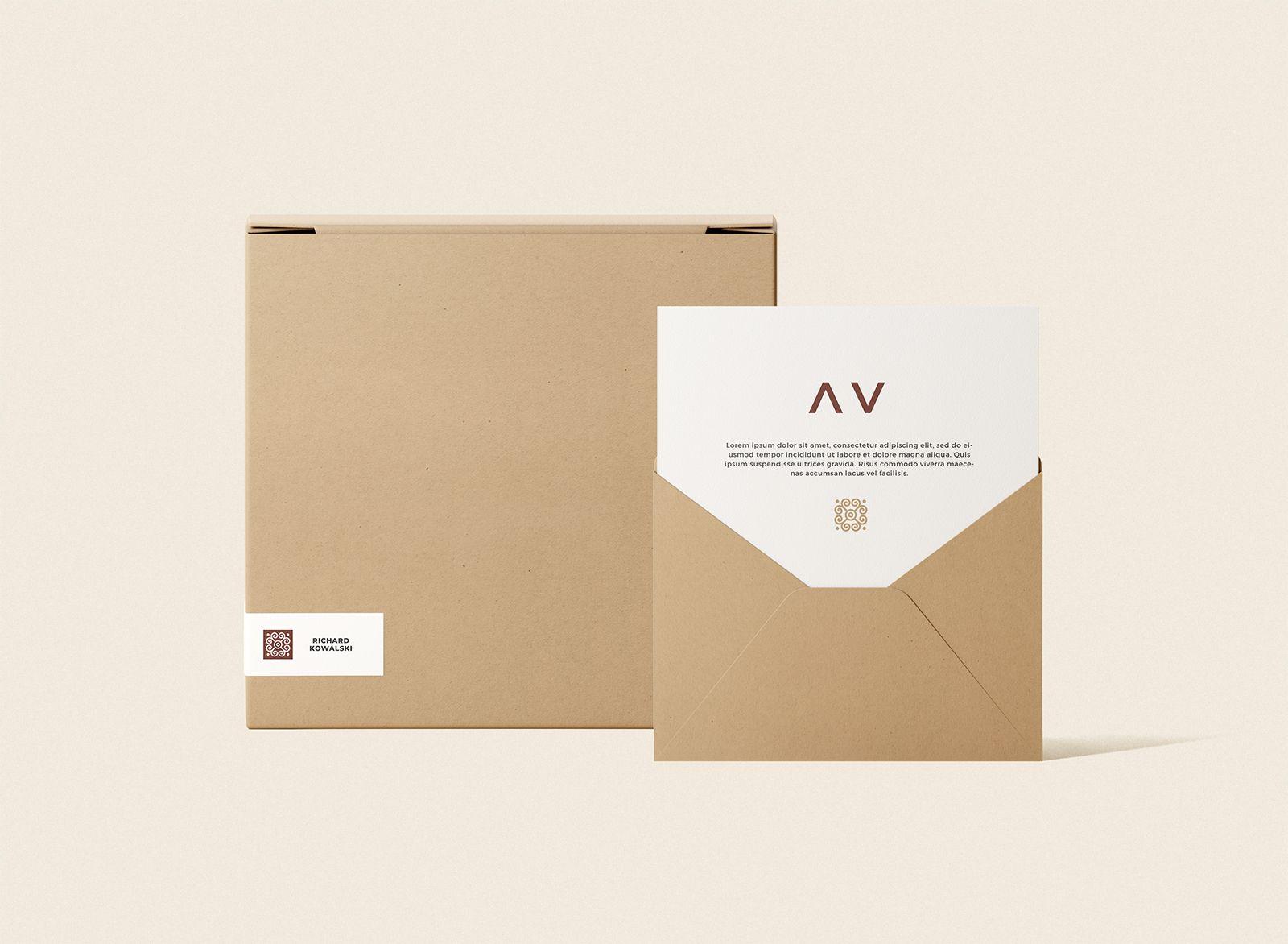 Download Envelope And Box Mockup Free Mockup Box Mockup Stationery Mockup Free Mockup