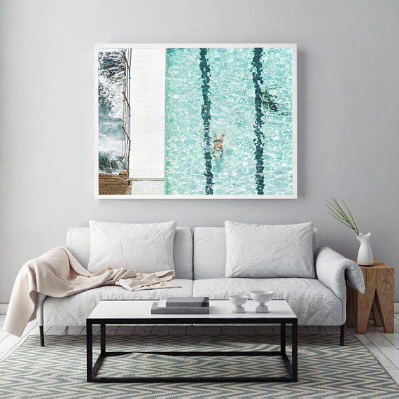 Large Beach Print Bondi Beach Beach Photography Turquoise Water