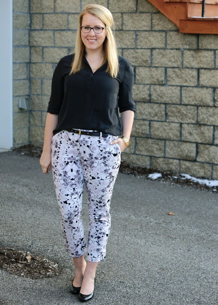 one year ago today: floral pants - Franish