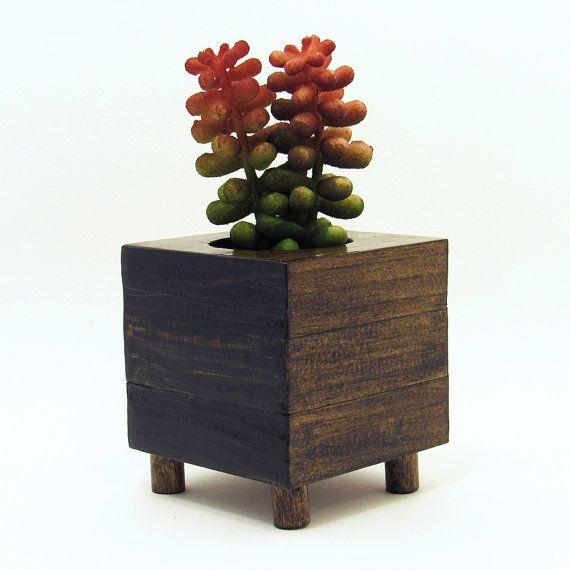 Succulent Planter Wood Planter Succulent Pot Modern Planter Air
