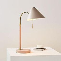 Mid Century Task Table Lamp Usb Blush In 2019 Table