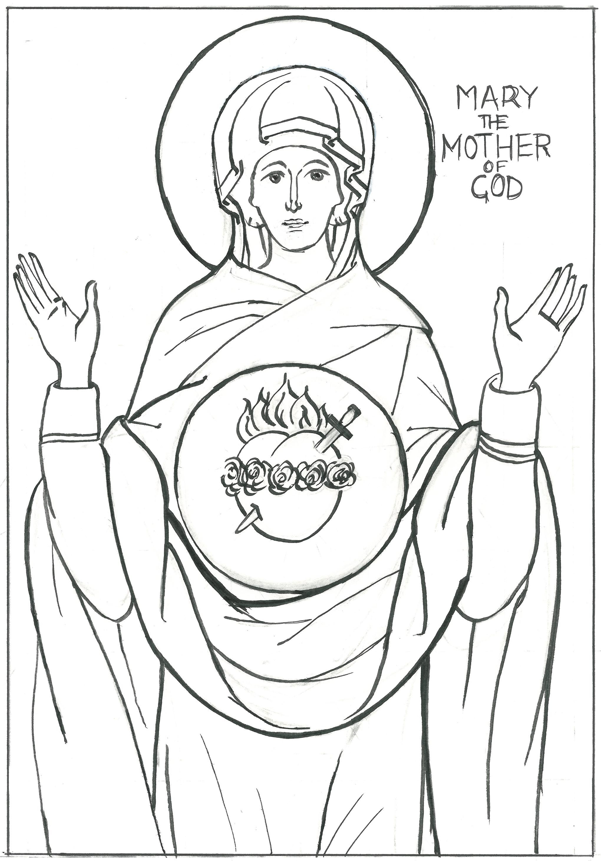 Coloring Books Mary Mother Of God 2040x2922