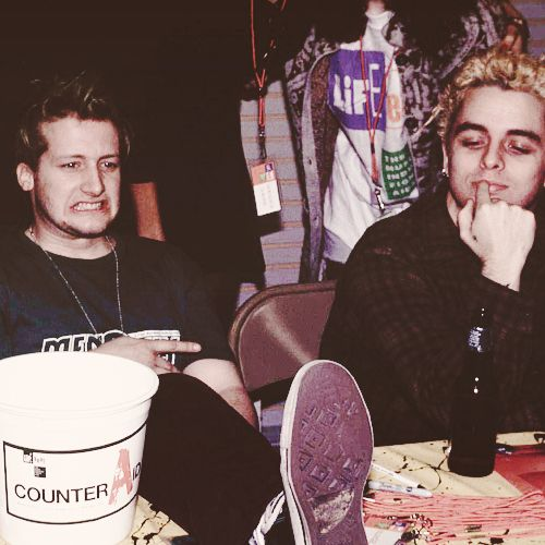 Tré Cool and Billie Joe Armstrong (Green Day)