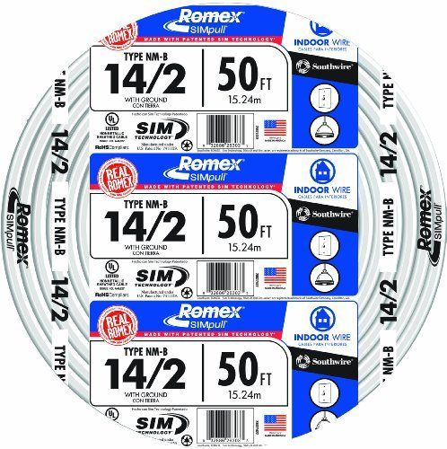 Southwire 28827422 14 2wg Nmb Wire 50 Foot By Southwire 25 47 From The Manufacturer For Residential Wiring Electricity Residential Electrical
