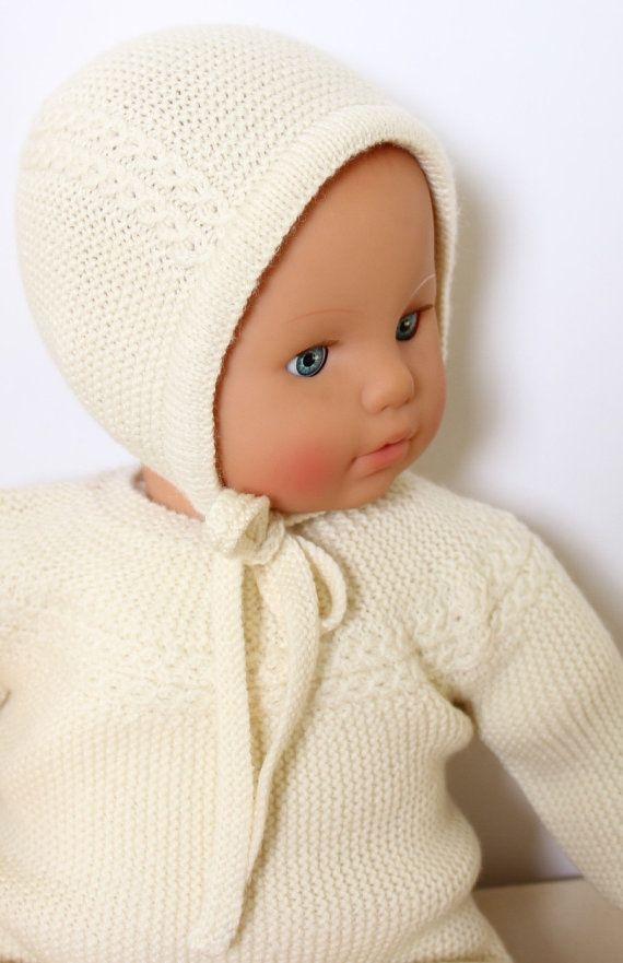 27 / Baby Bonnet Princess Charlotte/ Knitting Pattern Instructions ...