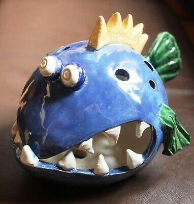 Keramik Fischkugel gross Handarbeit frostfest Gartenstecker Gartenkeramik | eBay