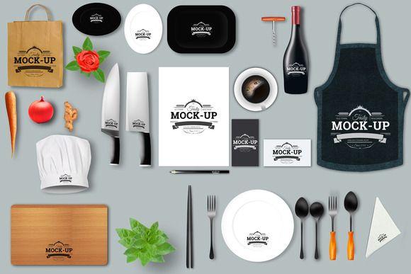 Restaurant Mock Up Creator Restaurant Branding Branding Mockups Psd Branding