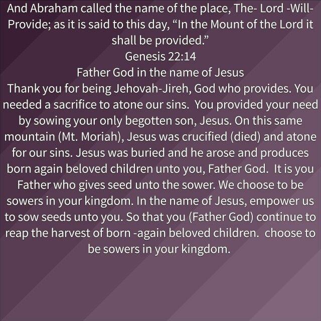 Let us sow in the Kingdom of God