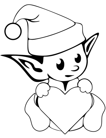 Cute Christmas Elf Coloring Page From Christmas Elves Category Select From 24661 Printable Printable Christmas Coloring Pages Elf Drawings Cute Coloring Pages
