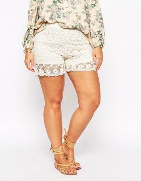 Plus Size Lace Shorts Plus Size Fashion Embellished Shorts Lace
