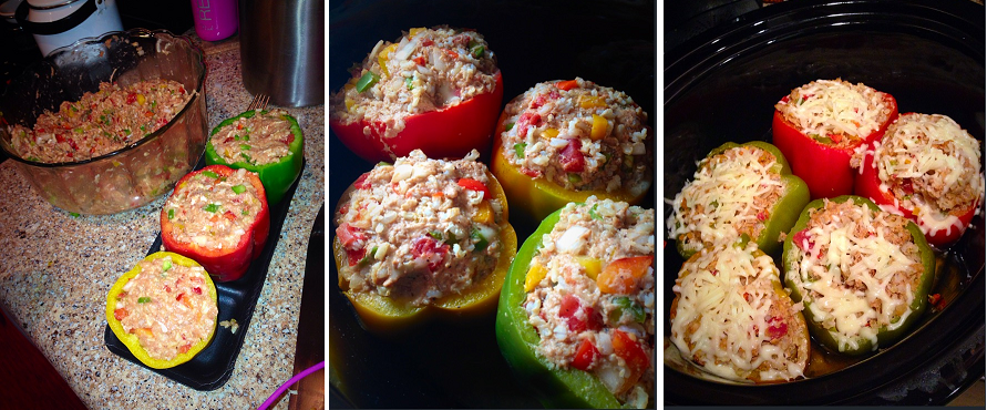 Crockpot Stuffed Peppers Ingredients 6 Large Bell Peppers 1 Lb Uncooked Ground Turkey 3 4 Cup Stuffed Peppers Dinner Date Recipes Crockpot Stuffed Peppers