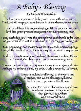 A Baby S Blessing Sister Poems Birthday Prayer Birthday Poems
