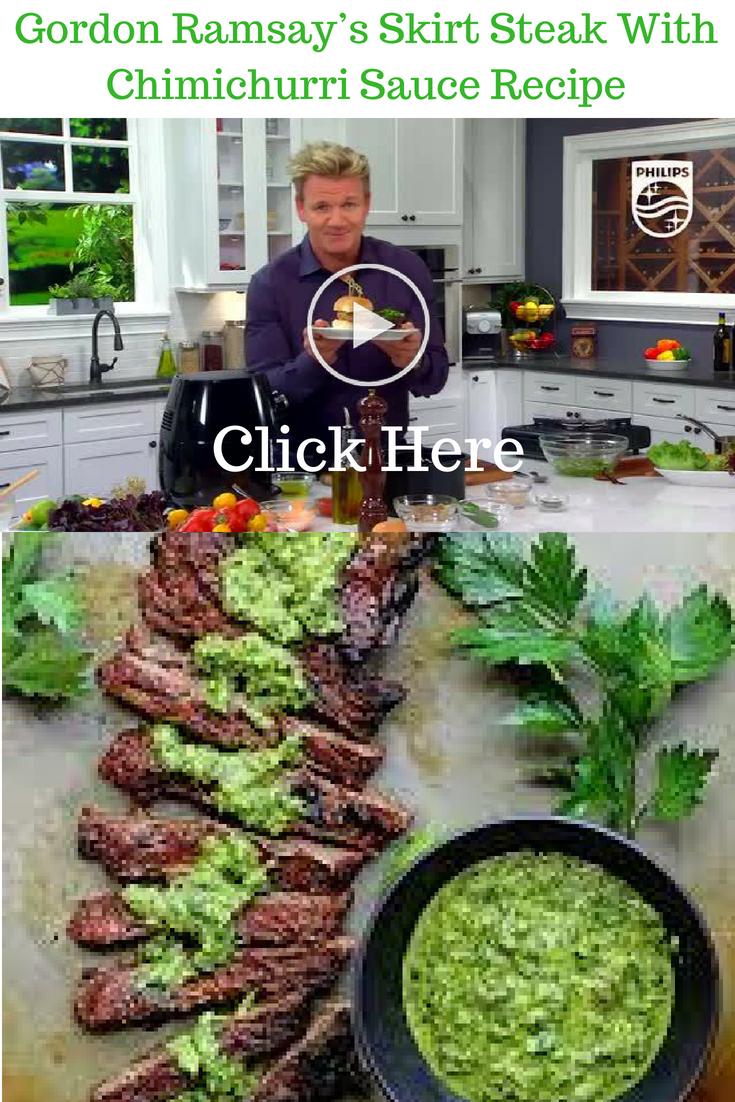 Gordon Ramsey's Skirt Steak with Chimichurri Sauce Recipe