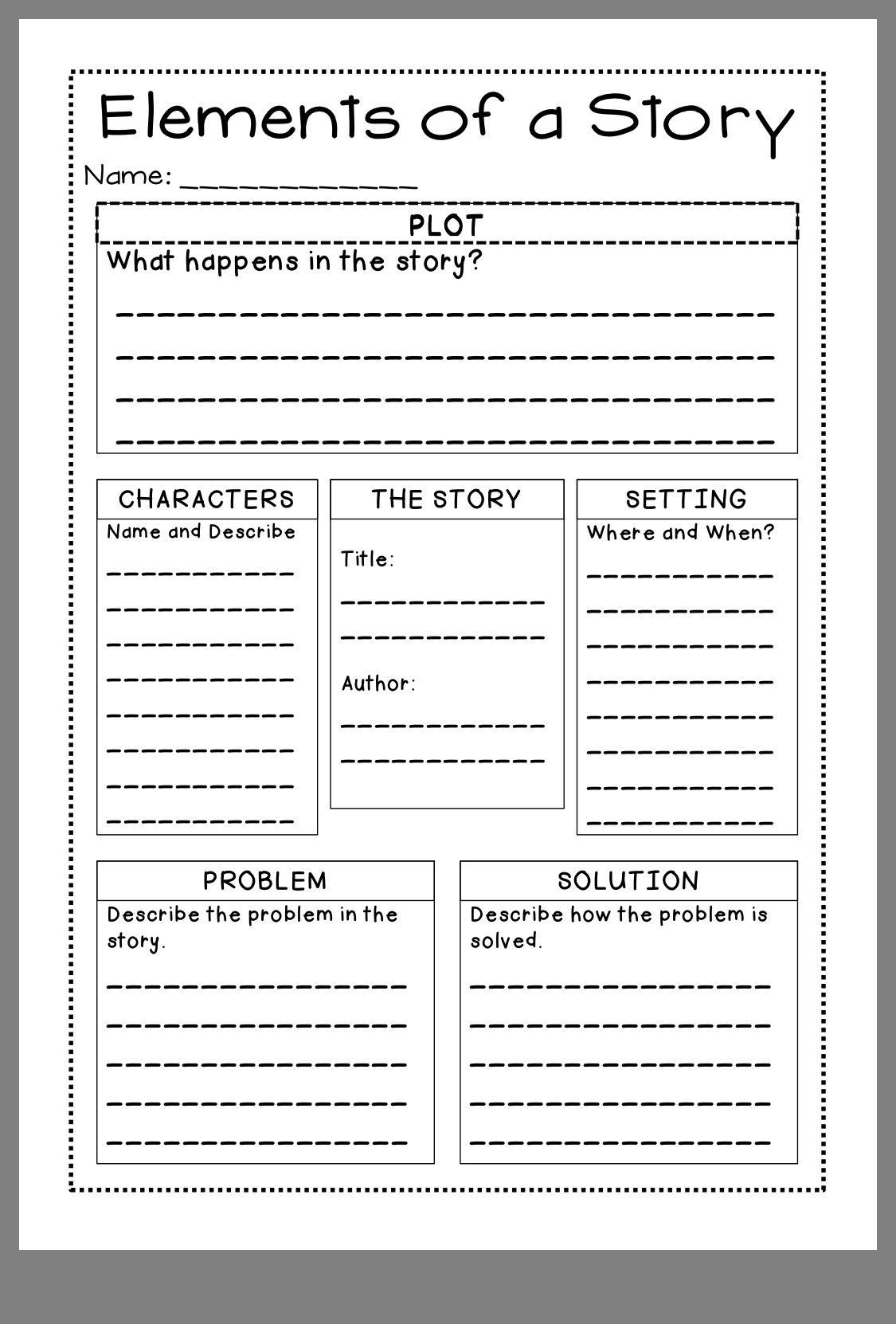 Story Elements Worksheet 4th Grade Pin By Jill Brewington