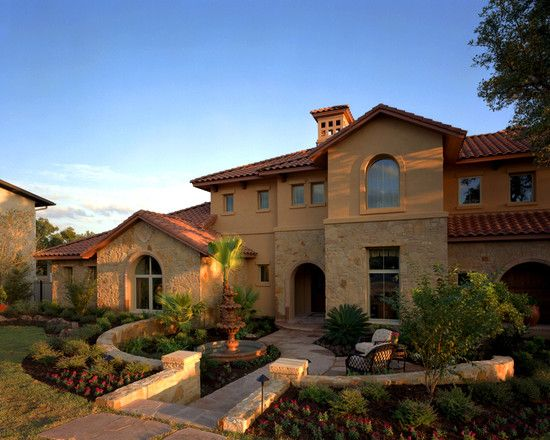 Mediterranean Exterior Craftsman Style Decorating Design Pictures Remodel Decor And Ideas Page 4 Tuscan Style Homes Tuscan House Hacienda Style Decor