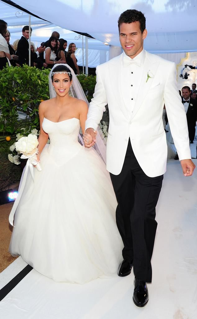 Kim's wedding dress. Vera did good.